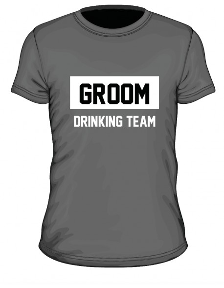 Groom drinking team